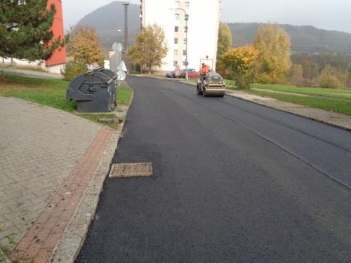 Obec Obrnice – oprava komunikace sídliště